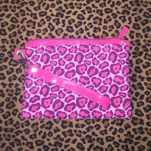 Handbags - Pink Cheetah print Wristlet/ bathing suit bag