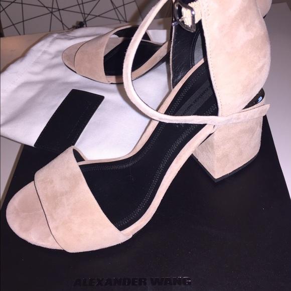 add8a4fe59f Alexander Wang Abby Suede Rhodium sandal
