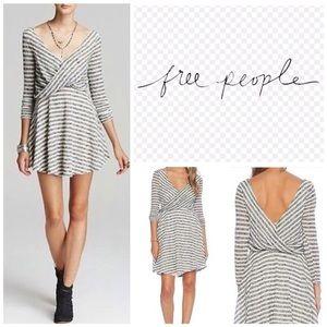 NWT Free People Maverick Striped Mini Dress