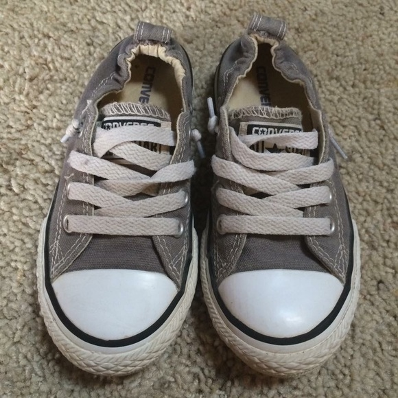 33903b1dde410b Converse Other - CONVERSE gray no time to lace slip on shoes sz 12