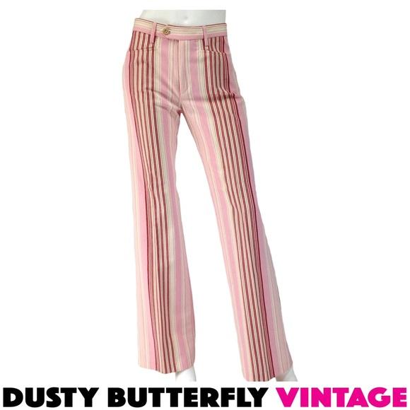 lowest price exclusive range Official Website JOSEPH MOD PANTS | Striped Flares DESIGNER Retro NWT