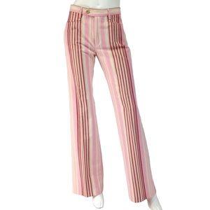 Joseph Pants - JOSEPH MOD PANTS   Striped Flares DESIGNER Retro