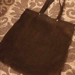 Tory Burch suede tote