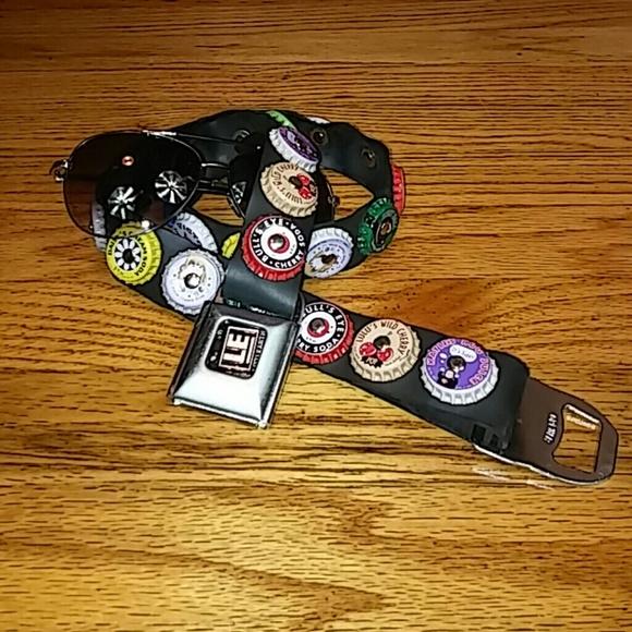 Vintage 90's Seatbelt Sodapop Bottlecap Belt