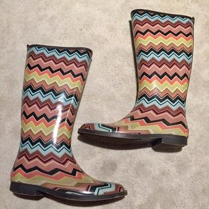 Missoni for Target Zig Zag Colorful Rain Boots