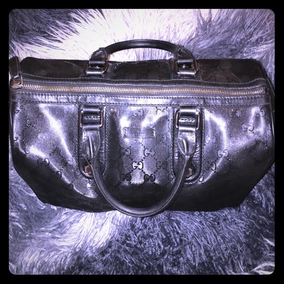 1b5a9fb4d2d Gucci Handbags - GUCCI Imprime Medium Joy Stud Boston Black Bag