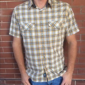 Kuhl Other - Kuhl Short Sleeve Yellow Flannel