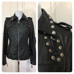 Dondup Jackets & Blazers - Dondup leather studded biker jacket