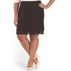 MYNT 1792 Dresses & Skirts - NEW Mynt 1792 Skirt Black Lace Trim Plus Size 22W