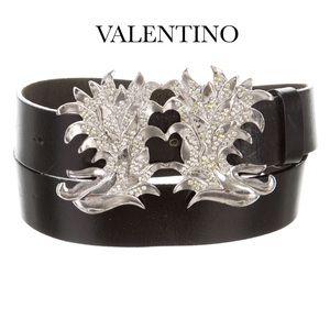 Valentino Accessories - VALENTINO BLACK LEATHER BELT