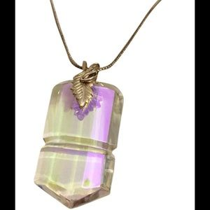 Jewelry - Sterling Silver aurora borealis handmade necklace