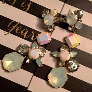 J CREW CRYSTAL CLUSTER EARRINGS