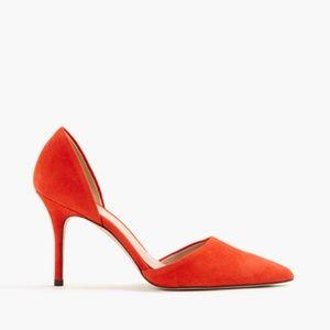 J. Crew Shoes - J.CREW Elsie suede d'Orsay pumps