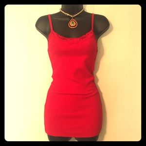 Tops - NWOT Red Camisole *Free*
