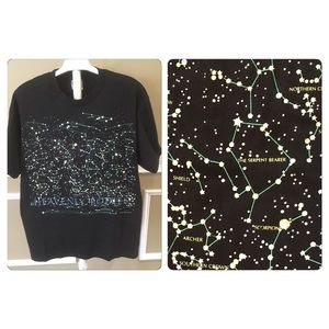 Vtg 90's Glow in the Dark Heavenly Bodies T-Shirt
