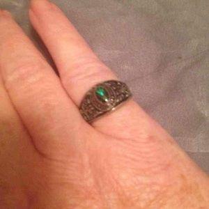 graduation Jewelry - Emerald green graduation ring Sz 6 ☝🏻️😉💞🎄🎁