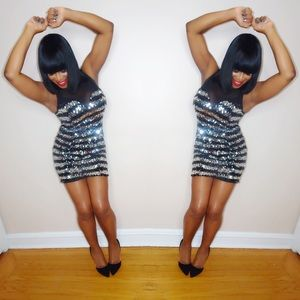 Dresses & Skirts - Mesh Back Sequins Party Dress