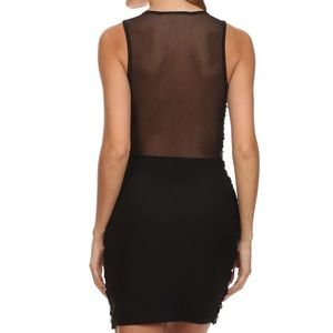 Dresses - Mesh Back Sequins Party Dress