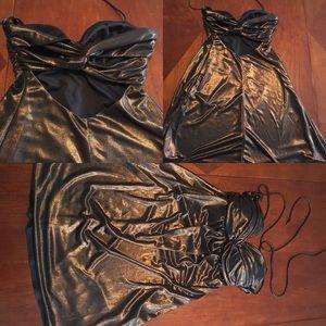 Dresses & Skirts - bronze mini dress