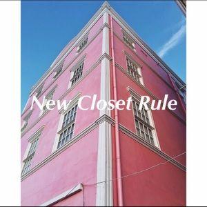 ✖️New Closet Rule✖️
