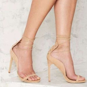 Nasty Gal lace up heels, brand new