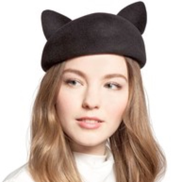 af935cfc4210e Eugenia Kim cat hat beret ear kitty hair accessory