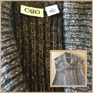 Cato Sweaters - Short sleeve sweater cardigan