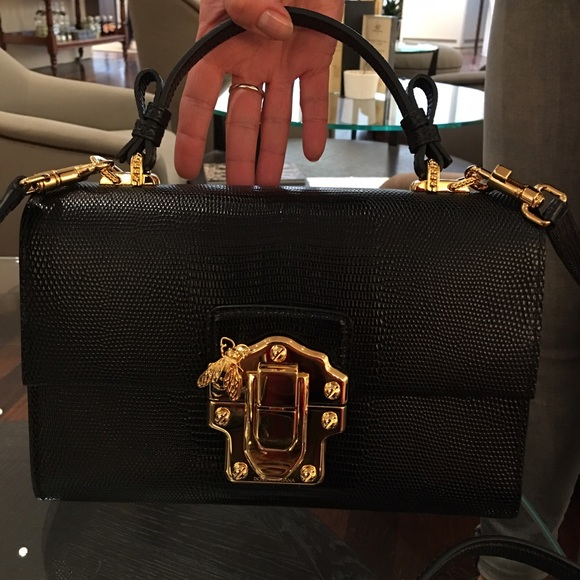 8307d4db8a Dolce & Gabbana Bags | Dg Lucia Lizard Effect Leather Bag | Poshmark