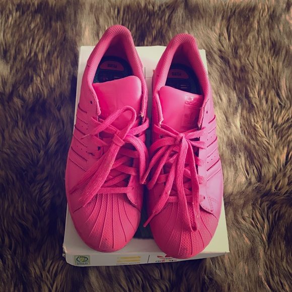 best sneakers f3261 56916 Adidas Shoes - Pharrell Williams Super Color SuperStar Pink