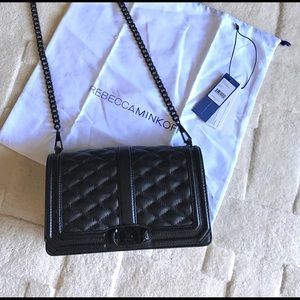 Rebecca Minkoff black cross body Love bag