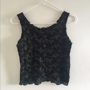 Cropped Black Party Top