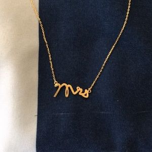 Gold Mrs. Necklace
