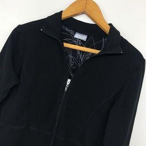 Danskin Now Jackets & Blazers - DANSKIN BLACK FRONT ZIP SWEAT JACKET