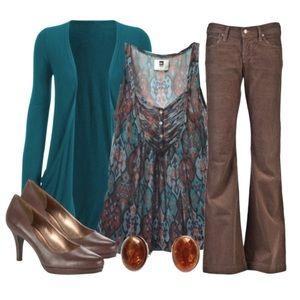 Coldwater Creek Tummy Control Jeans Brown 18W Plus