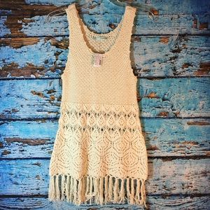 NWT Maurice's Cream Knit Tunic Dress S
