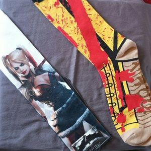 Batman Accessories - Geeky High Sock Bundle Harley Quinn & Kill Bill