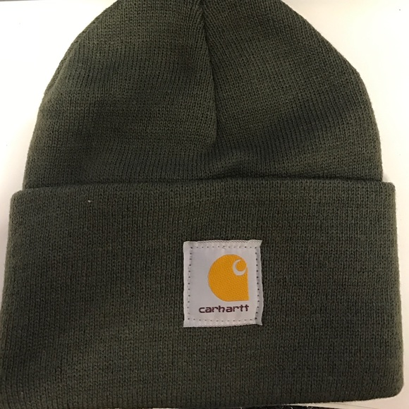 cccd0631f2b Carhartt Mens Dark Green Knit Watch Cap A18308