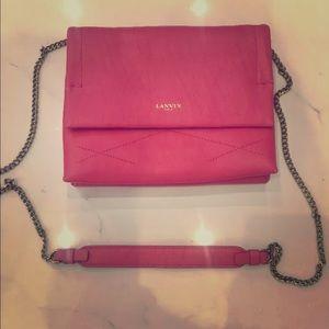 Lanvin Paris Pink Lambskin Bag Mini Sugar