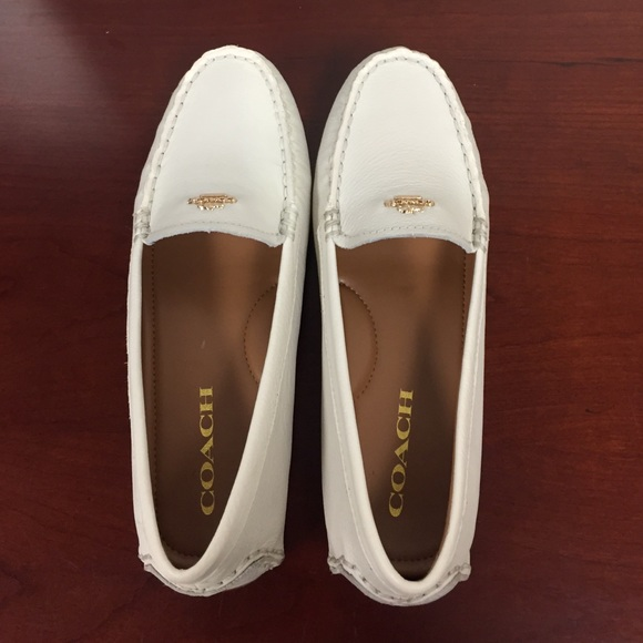 7feb29aacd1 Coach Shoes - SUNDAY SALE! NWOT Ivory Coach Amber Loafers - 6.5