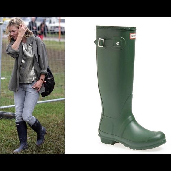 Green Hunter Women'S Boots Short Hunter