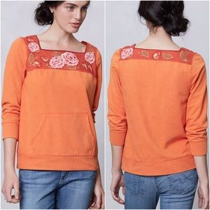 Anthropologie Rosy Sweatshirt floral Lilka