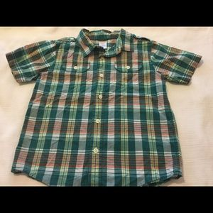 Gymboree Other - 🍃GYMBOREE green shirt boys size 5-6 EUC