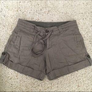 light olive shorts