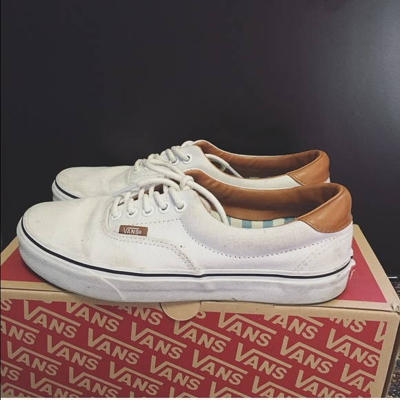 dcad38db White vans with leather lining