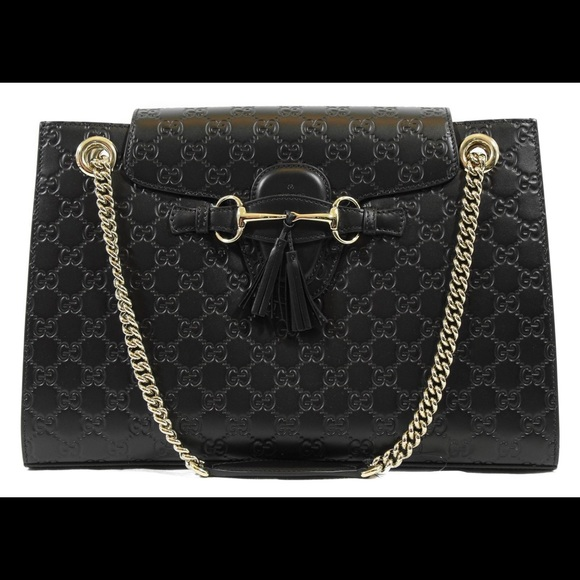 650a42bc7d6ce3 Gucci Bags | Emily Large Ssima Leather Shoulder Bag | Poshmark