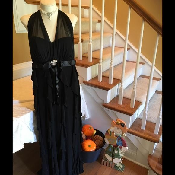 Betsy & Adam Dresses | A Nordstrom Betsy Adam Formal Black Gown Sz ...