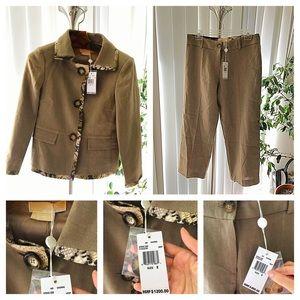 Brand new Linen MICHAEL KORS cropped pant suit