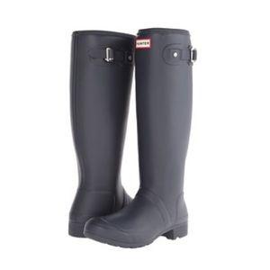 Hunter Original Tall Rain boots Size 7 Matte Navy