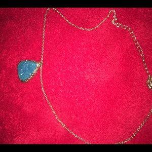 Blue gemstone statement necklace