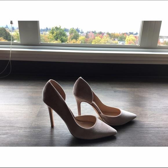 4b6c04c28d8 Nude Velvet London Rebel Open Waisted Court Shoes. NWT